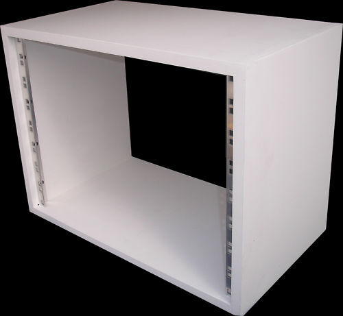 8u Unit 19 Inch Rack Cabinet Recording Studio Furniture In White Primer Ebay