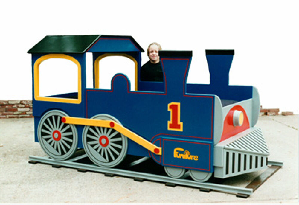 Train Engine Bed Woodworking Plan by PLANS4WOOD | eBay