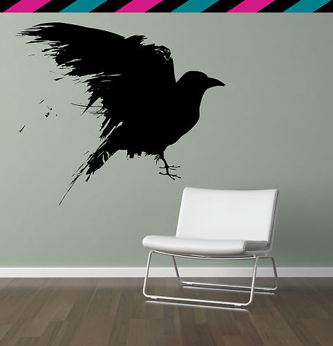 Crow Raven Bird Wing Wings Feather Feathers Wall Decal Ebay