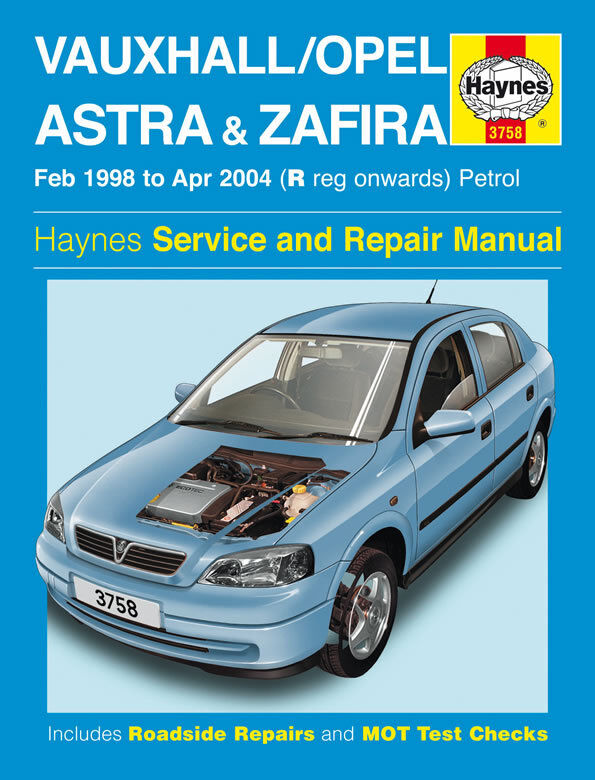 vauxhall opel astra zafira 1998 2004 haynes manual 3758 ebay. Black Bedroom Furniture Sets. Home Design Ideas