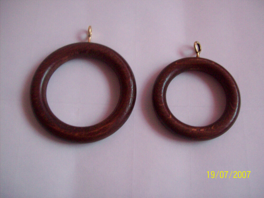 Walnut Wood Wooden Curtain Pole Rod Rings 28 35mm Pole Ebay