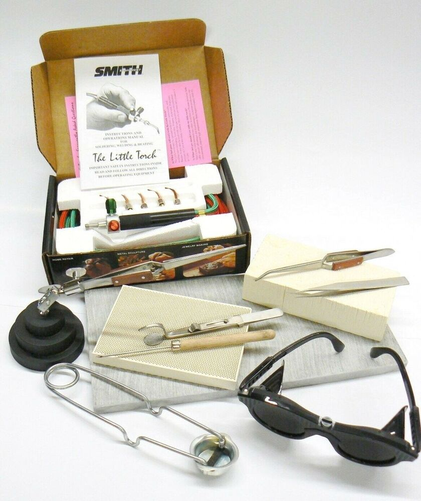 jewelry soldering kit smith little torch set tools materials gold silver repairs ebay. Black Bedroom Furniture Sets. Home Design Ideas