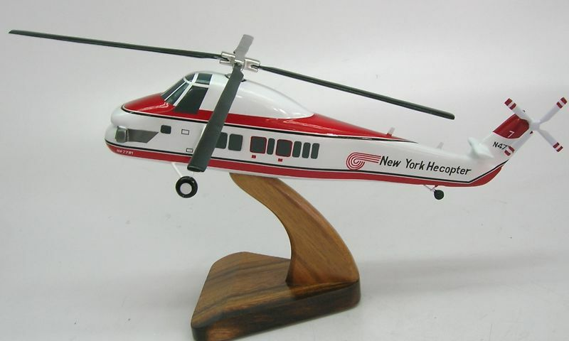 Elicottero S 58 : S sikorsky new york helicopter wood model replica xl