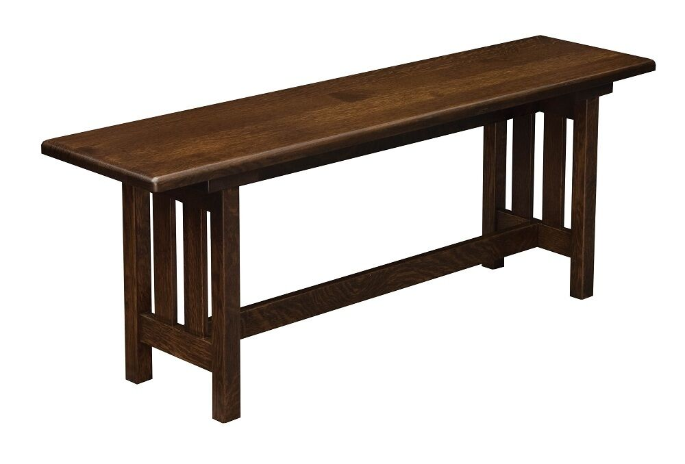 Amish black mission bench wood indoor entryway benches ebay