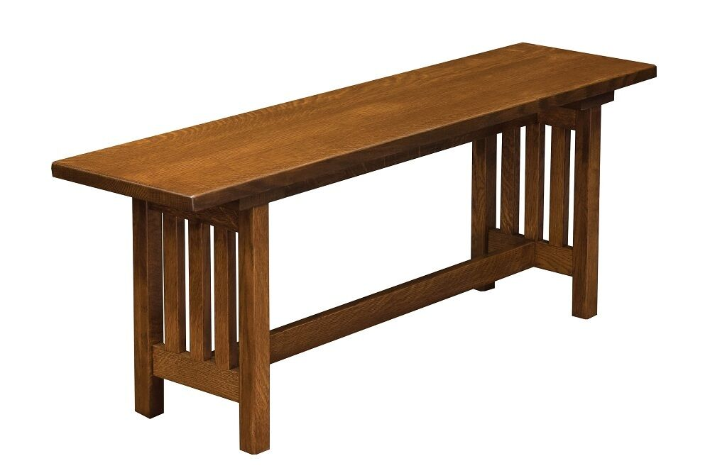 Amish Mission Bench Wood Furniture Indoor Entryway New Ebay