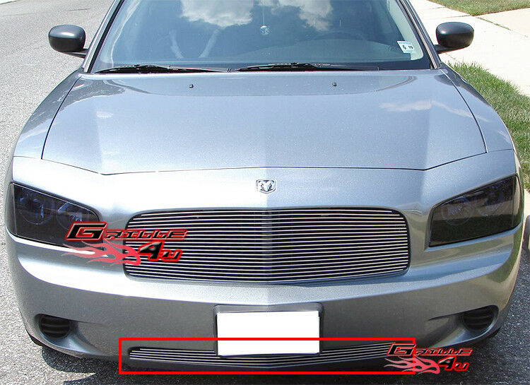for 05 10 dodge charger bumper billet grille insert ebay. Black Bedroom Furniture Sets. Home Design Ideas