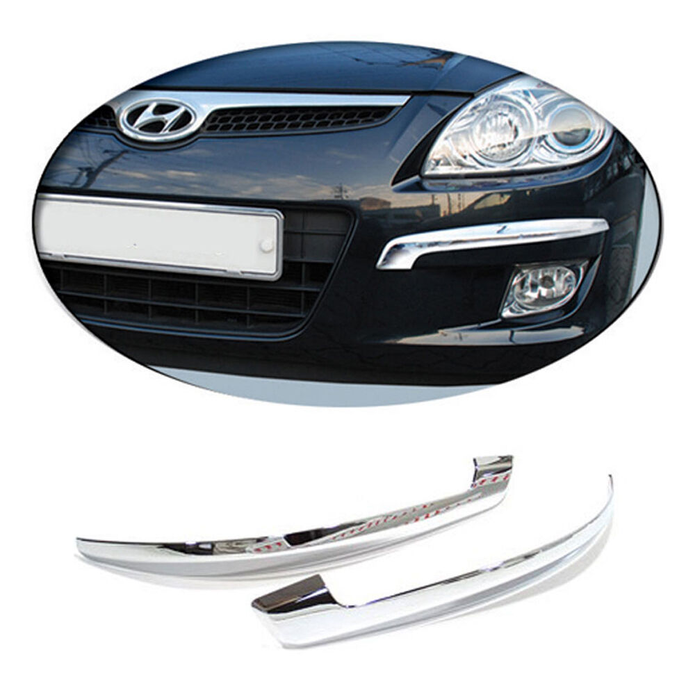 chrome front bumper molding for 08 11 hyundai i30 ebay. Black Bedroom Furniture Sets. Home Design Ideas