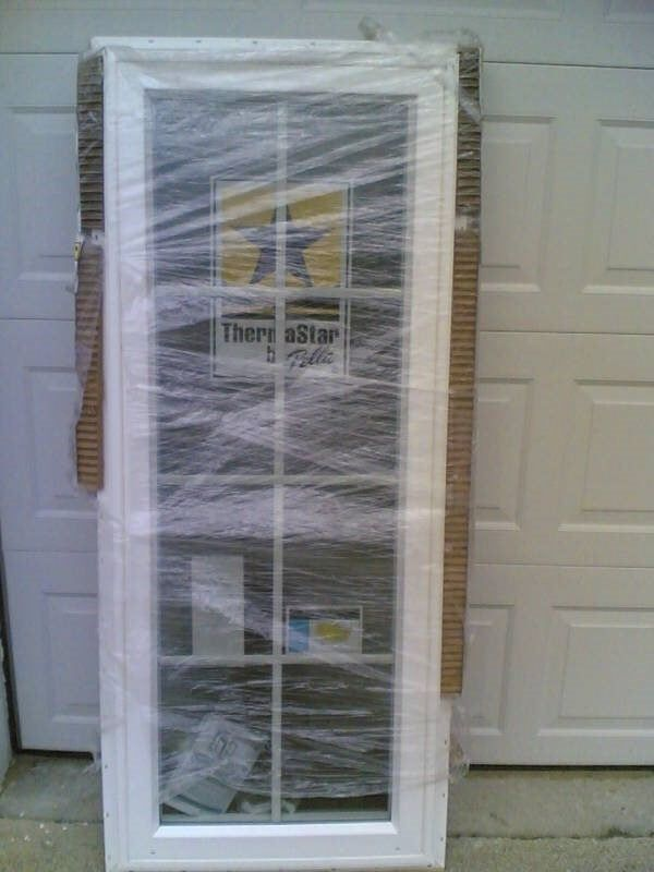 Brand new nice white pella vinyl casement window 25x62 ebay for New vinyl windows