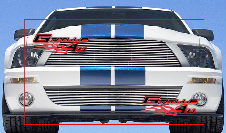 For 07-09 Ford Mustang Shelby GT500 Billet Grille Combo | eBay