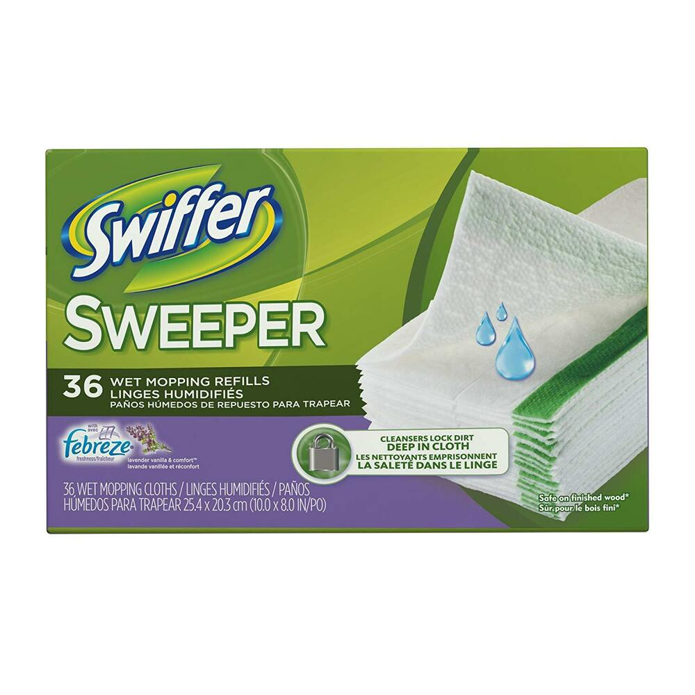 Swiffer Sweeper System Wet Mop Refills Cloths 24 Pack