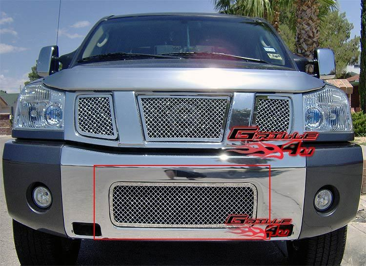 fits 2004 2015 nissan titan 04 07 armada bumper stainless. Black Bedroom Furniture Sets. Home Design Ideas