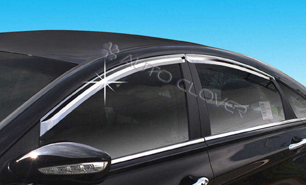 Chrome Window Sun Visor Vent Wind Rain 4p For 2011 2014