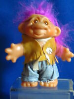 Dam Troll Doll with Indian Outfit and Purple Hair