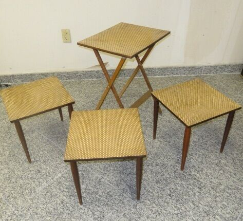 60 39 s mid century modern butler table 3 side serving tables ebay