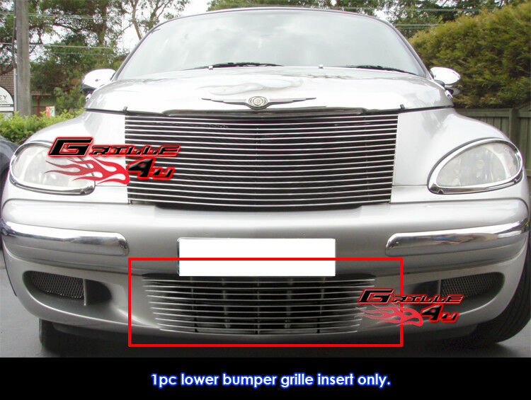 for 2000 2005 chrysler pt cruiser bumper billet grille. Black Bedroom Furniture Sets. Home Design Ideas