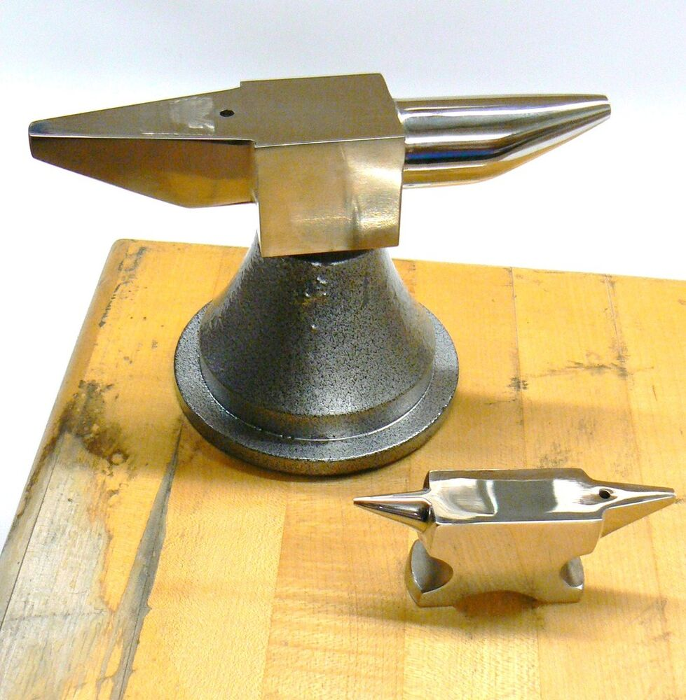 """Aluminum Brass Working France: HORN ANVIL METAL WORKING 7.5"""" LONG 8.5 LB BENCH DOUBLE"""