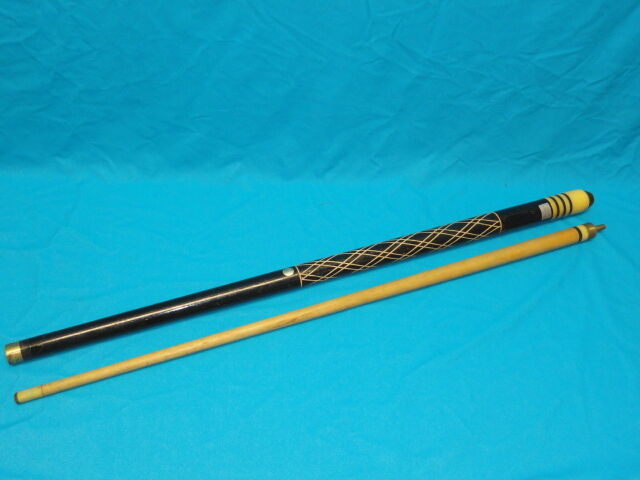 Vintage Hand Carved Dynaball Pool Cue Ebay