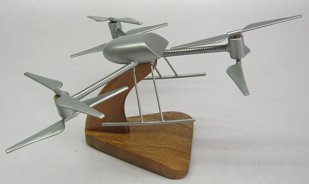Draganfly X6 Uav Helicopter Wood Model Replica X Large
