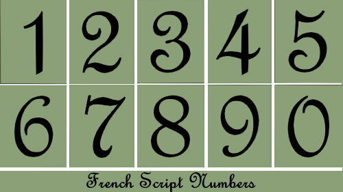 Primitive stencil numbers french script house address ebay