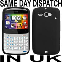BLACK SILICONE CASE COVER SKIN FOR HTC CHACHA CHA CHA