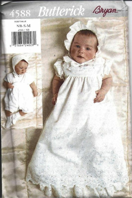 4588 Uncut Butterick Sewing Pattern Infant Baby