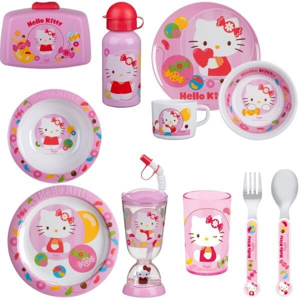 Hello Kitty Kinder Geschirr Set Melamin Teller NEU  eBay ~ Geschirr Artikel