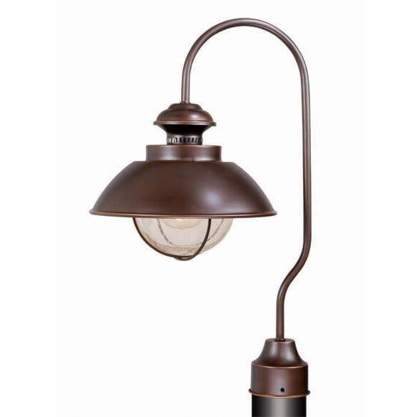 new 1 light nautical outdoor post lamp lighting fixture burnished. Black Bedroom Furniture Sets. Home Design Ideas