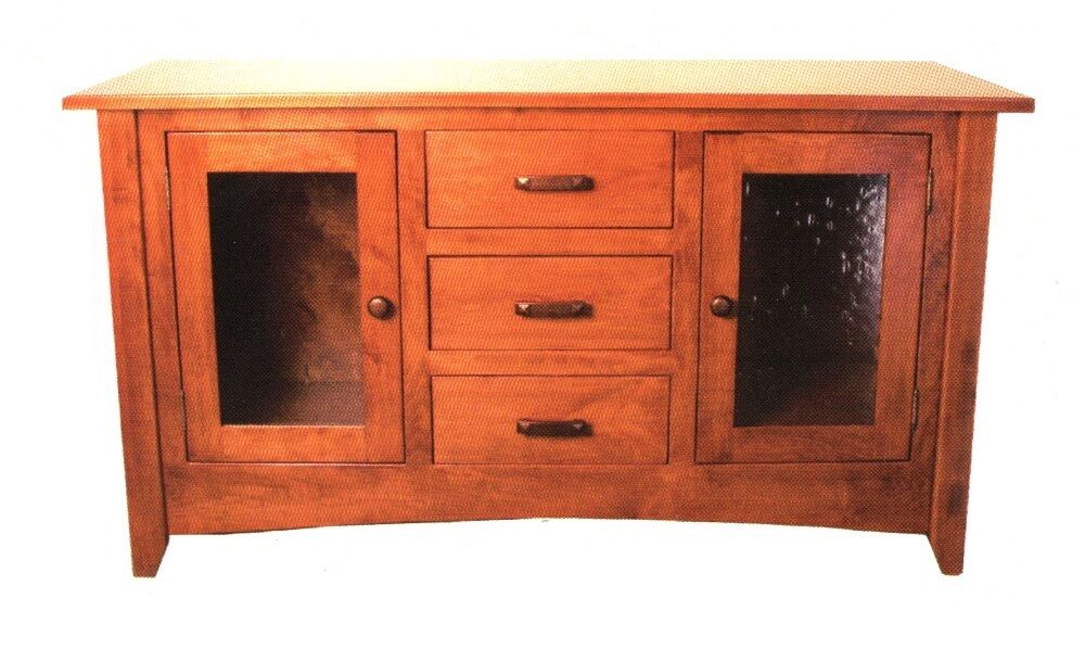 Amish Plasma LCD TV Stand Solid Wood Television Storage