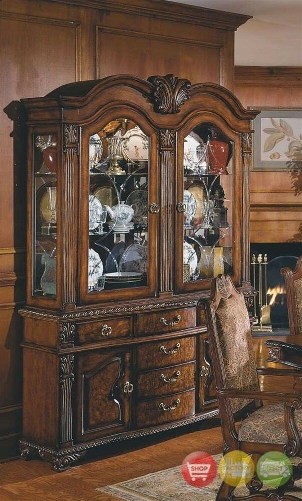 Neo Renaissance Formal Decorative China Cabinet