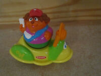 Playskool People Weebles Scooter Tricycle Mail Carrier Mailman Motorcycle Town