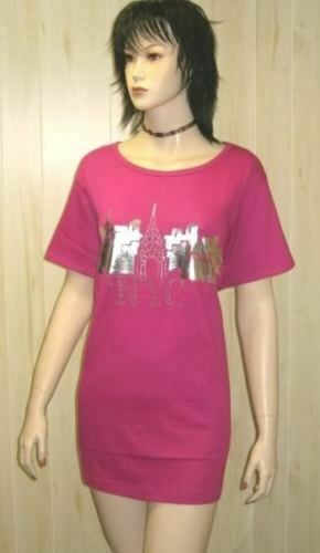 Pink tee t shirt new york nyc top studs 18 20 womens for Best dress shirts nyc