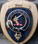 Scottish Gifts James Family Clan Crest Wall Plaque