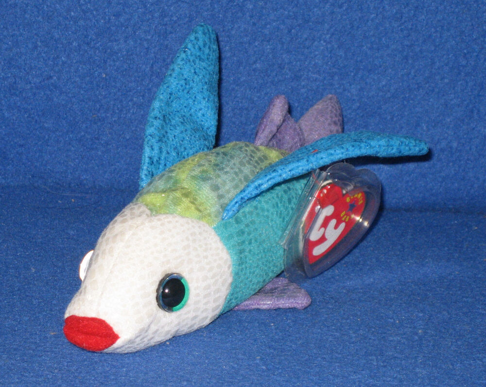 Ty propeller the flying fish beanie baby mint with mint for Fish beanie baby