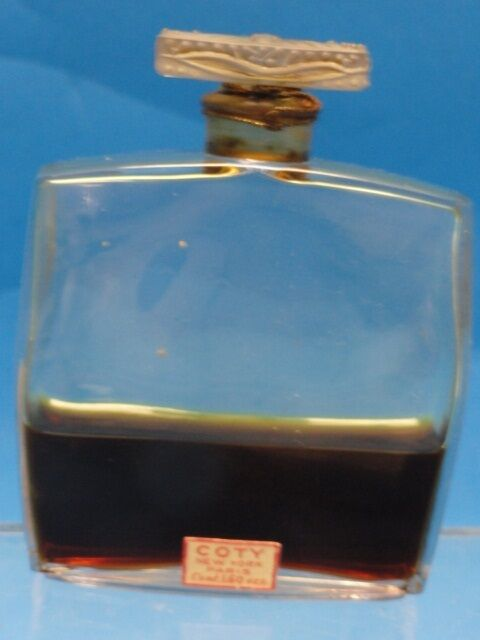 Antique Coty Perfume Lalique Bottle 1 6 Oz Rare Ebay
