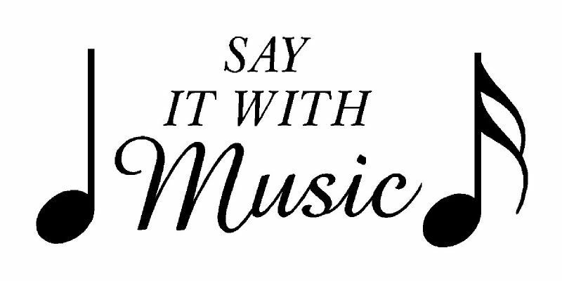 Say it with music notes vinyl wall lettering decal - Over the garden wall soundtrack vinyl ...