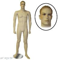 Male Mannequin Full Body Retail Fashion Clothes Display Stand Fleshtone  NEW