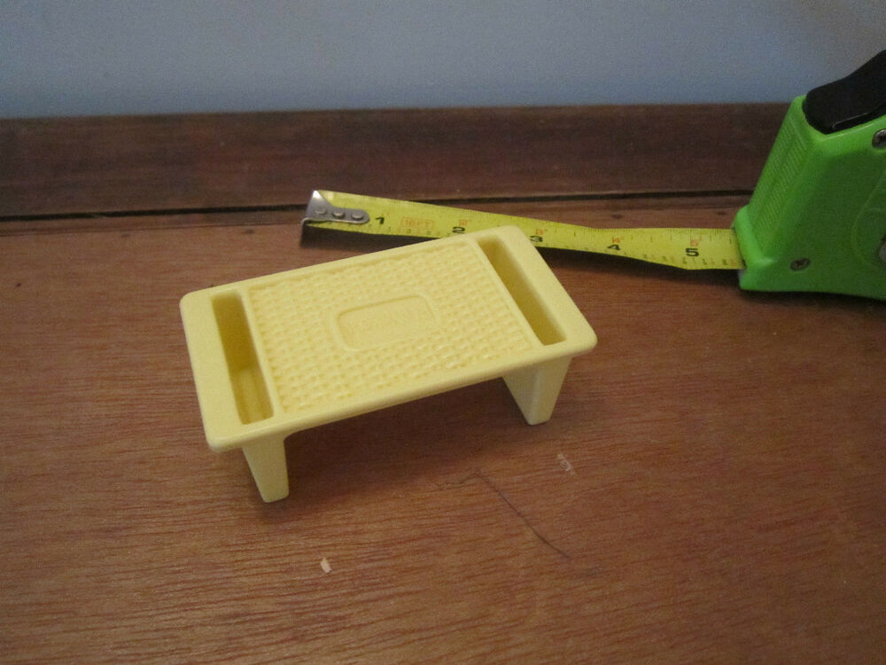 Playskool Toy Food : Vintage playskool dollhouse doll size tv breakfast bed