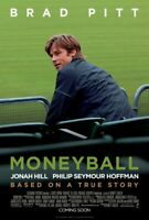 MONEYBALL Brad Pitt ORIGINAL DOUBLE SIDED Cinema 1 one Sheet FILM MOVIE POSTER!