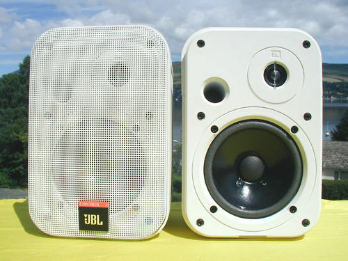 new jbl control 1 professional speakers white 150 watt studio monitors ebay. Black Bedroom Furniture Sets. Home Design Ideas