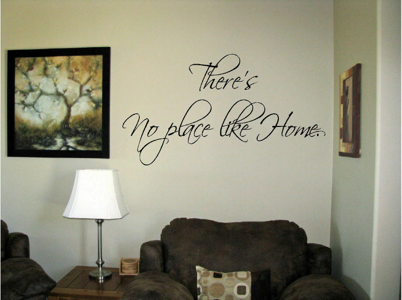 Vinyl wall art there 39 s no place like home words decals for Places to get home decor