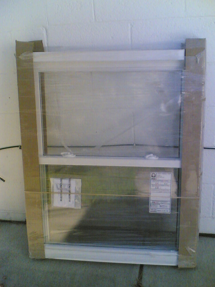 Brand new nice white vinyl double hung window ebay for Buy double hung windows online
