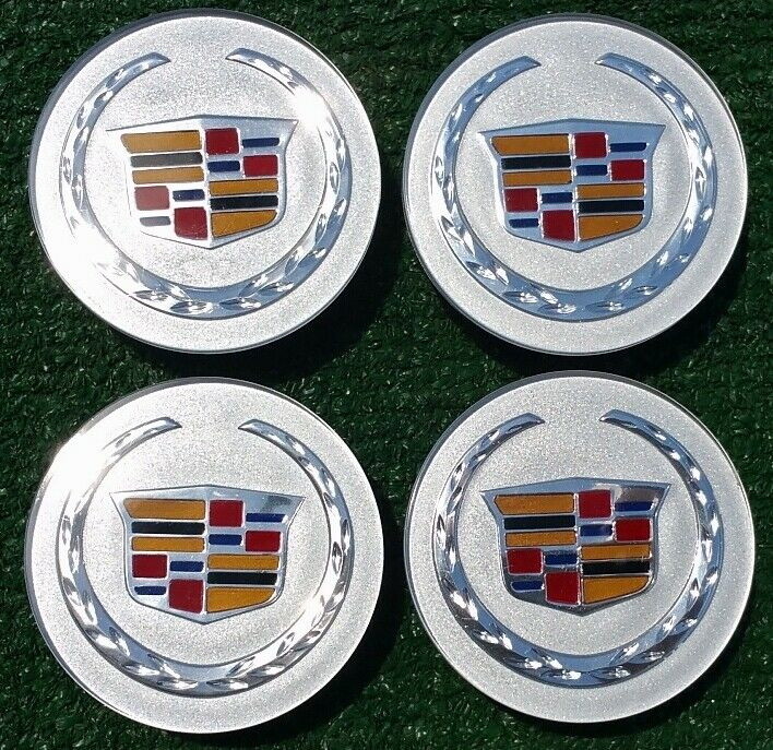 4 New Genuine Gm Oem Factory Cadillac Wheel Center Caps