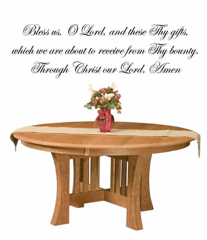 The Lord S Love Wall Decal: Catholic Prayer Bless Us O Lord Vinyl Wall Art Words