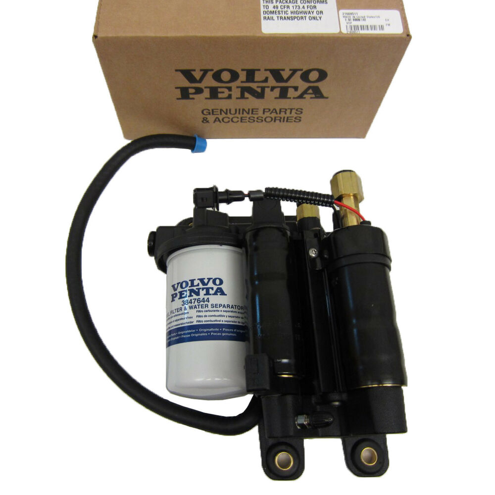 volvo penta electric fuel pump assembly new oem 21608511 ... rear of volvo penta 5 7 engine diagram