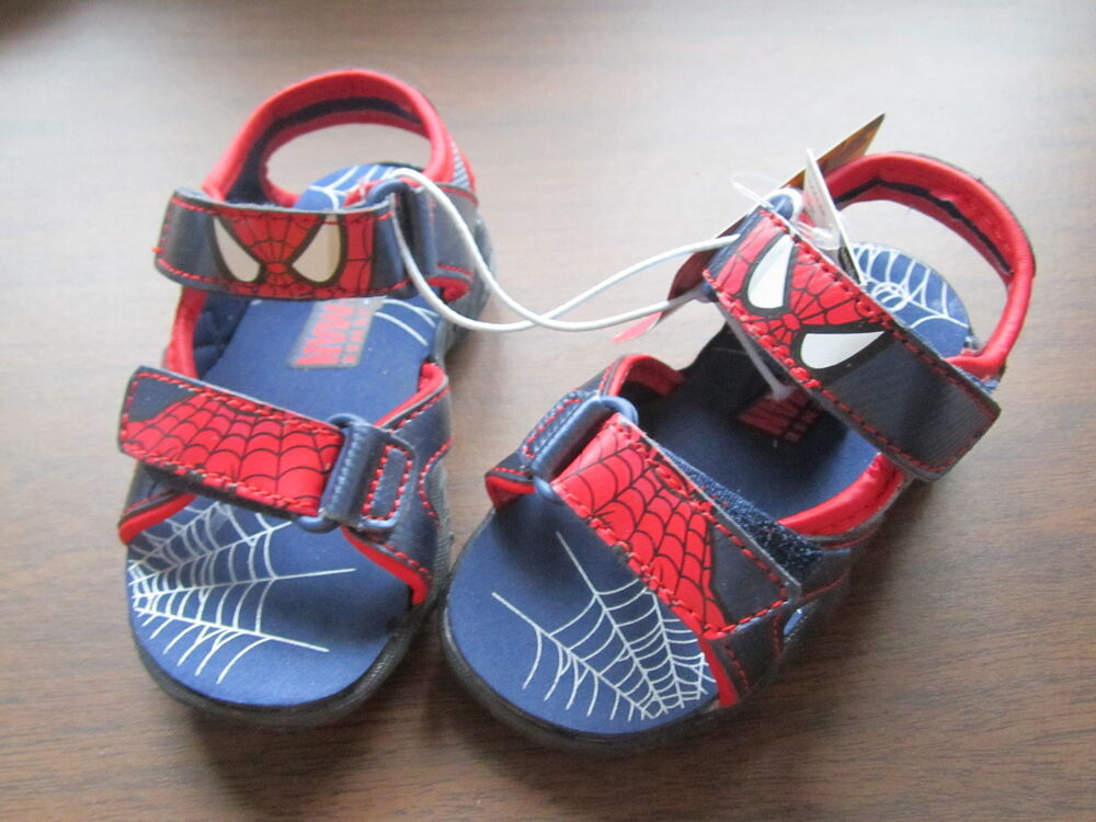 New Toddler Buster Brown Spiderman Spider Sense Sandals