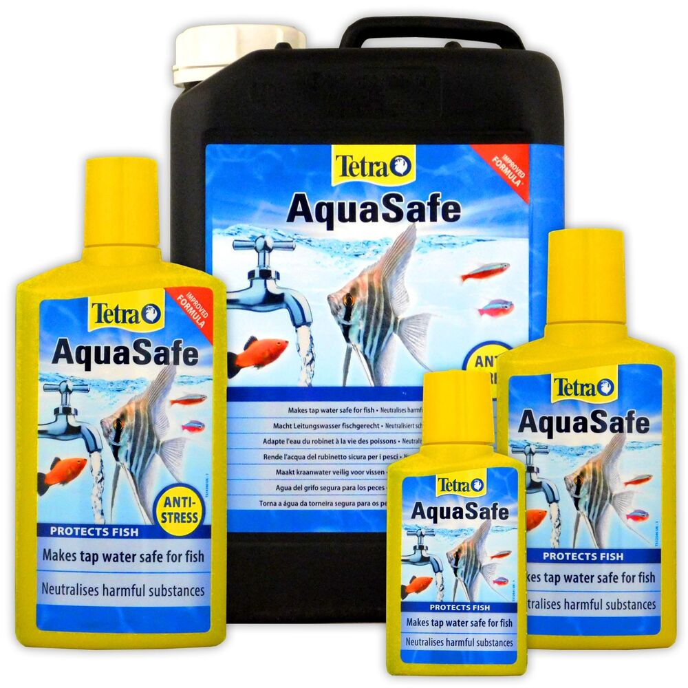 Tetra Aquasafe 100ml 250ml 500ml 5l 5 Litre Fish Tank Tap