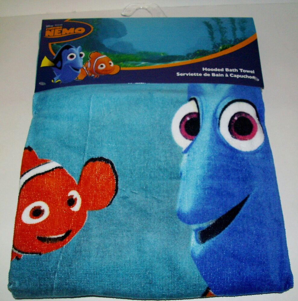 new disney finding nemo hooded bath towel bright