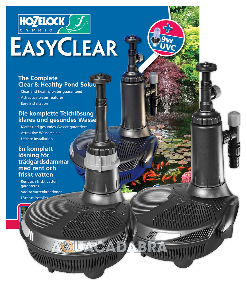 Hozelock easyclear fish pond pump uv uvc filter all in one for Fishpond filters and pumps