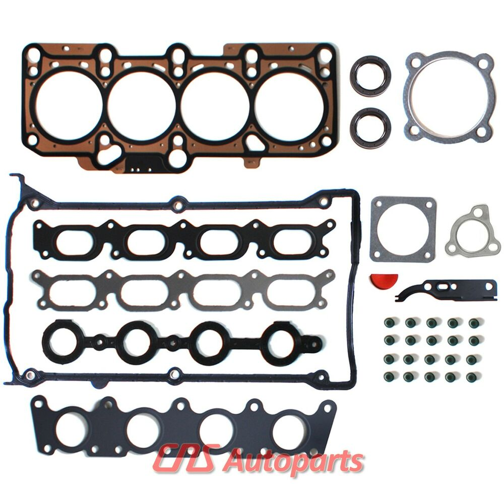 1.8L TURBO VW AUDI CYLINDER HEAD GASKET SET w/ TURBOCHARGER GASKET 20V ENGINE | eBay