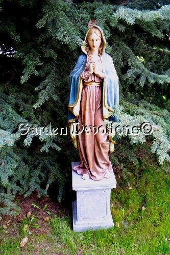 outdoor statue blessed virgin